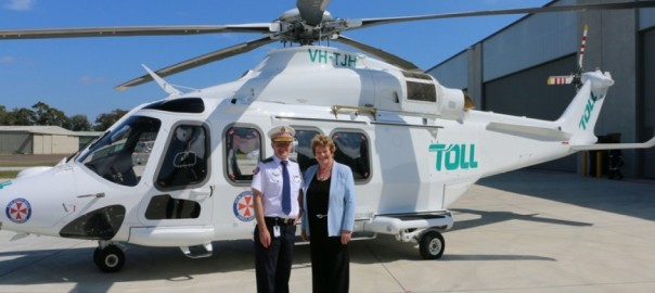 NSW Ambulance Commissioner Dominic Morgan with health minister Jillian Skinner. Image: NSW Government