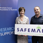 Cate Harman, State Manager WA, Prostate Cancer Foundation of Australia with Dean Smith WA Sales Manager Safeman Australia
