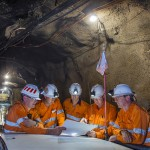 Workers at Argyle diamonds underground mine