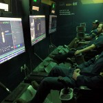 Workers in Command room, a semi-autonomous and remote operation of underground loaders