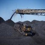 Coal stockpile at the Ravensworth open cut mine