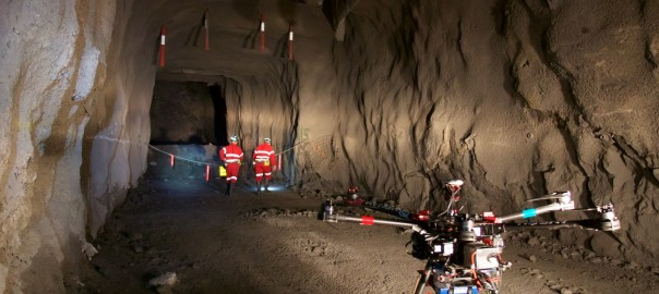 Hovermap lidar mapping and autonomy payload fitted to drone for underground mine mapping. Image: CSIRO