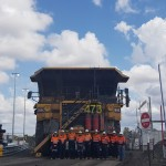 New Acland mine workers farewell the truck. Image: New Hope Group.