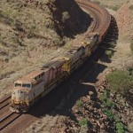 The AutoHaul loaded train. Image: Rio Tinto