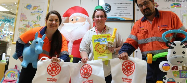 KCGM's safety innovation award winners choose to donate to Radio Lollipop, Red Cross Soup Patrol and Kalgoorlie-Boulder Men's Shed. Image: KCGM